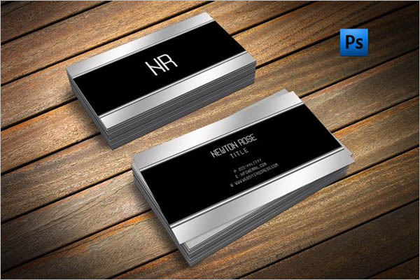 Silver Metal Business Cards Design