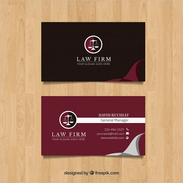 Simple Advocate Business Card