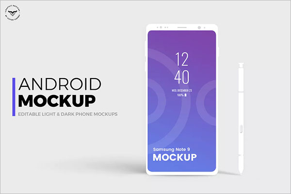 Simple Android Mobile Mockup