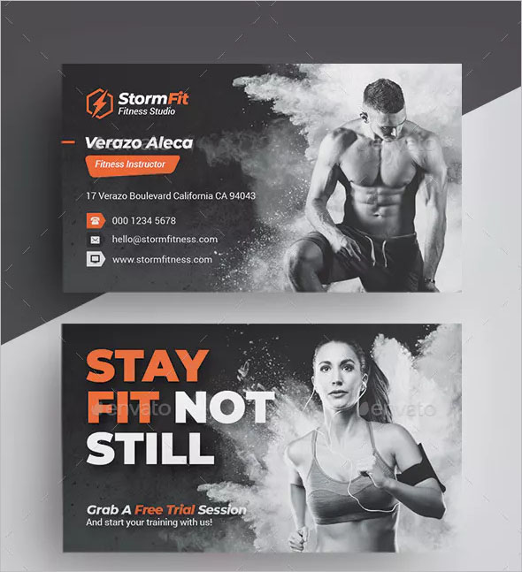 Simple Fitness Business Card
