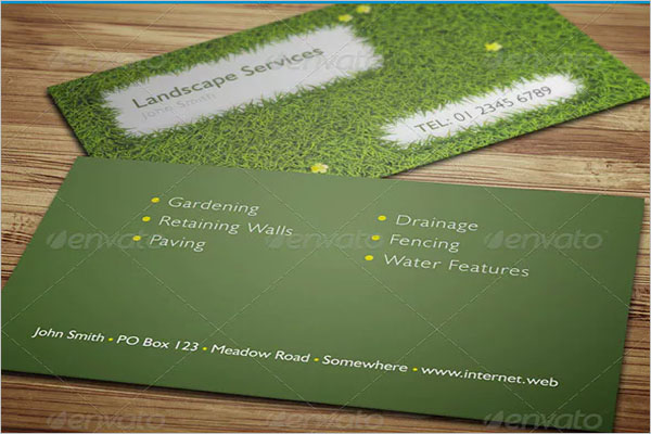 Simple Gardening Business Card