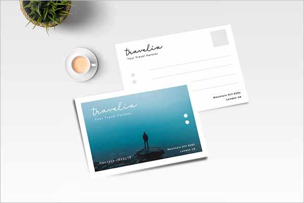 Simple Holiday Postcard Design