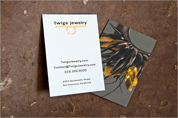 Simple Jewelry Business Cards