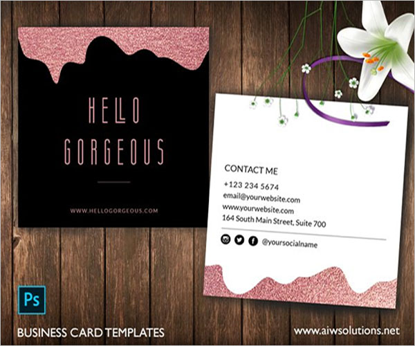Simple Rose Gold Business Card Design