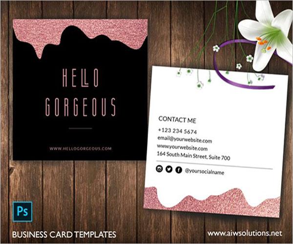 Simple Rose Gold Business Card Design