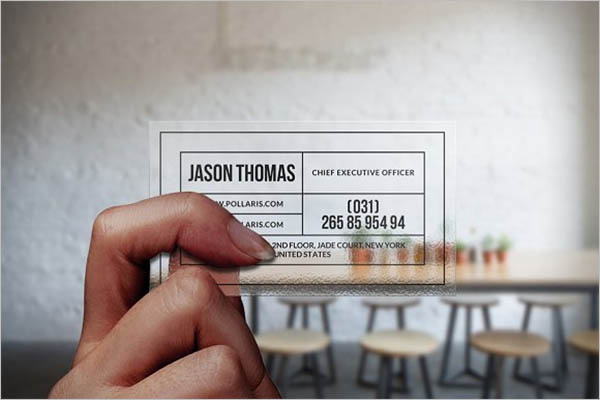 Simple Transparent Business Card Template