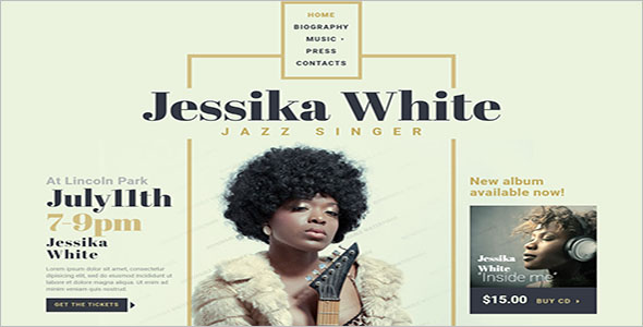 Singer Responsive Website Template