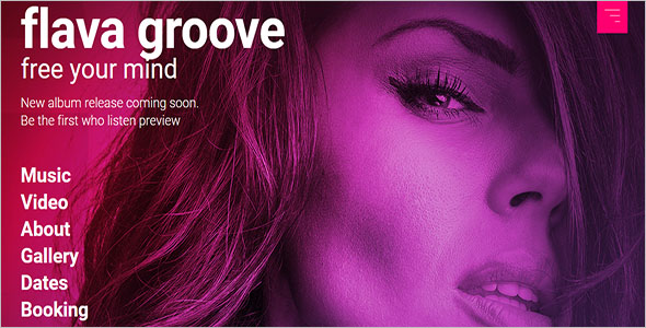Single Release Promo Music Band Responsive Template