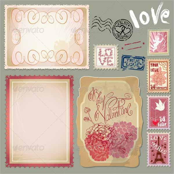 Single Vintage Postcard Design