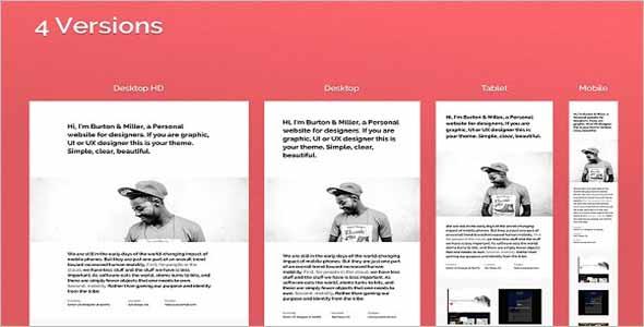 Sketch Portfolio Website Theme