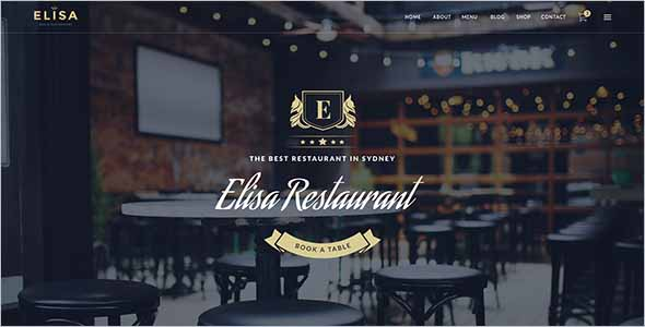 Sketch Restaurant Website Theme