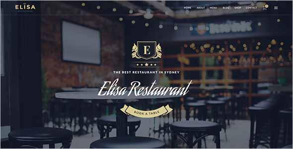 Sketch Restaurant Website Theme