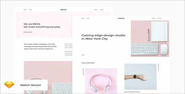 Sketch WordPress Website Template