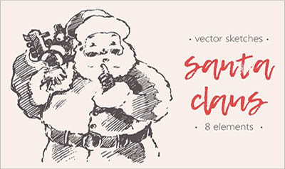 Sketches of the Santa Claus