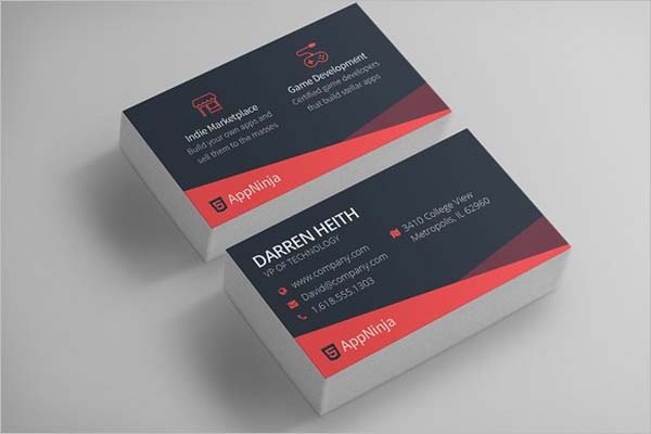 Sleek Business Card Design PSD