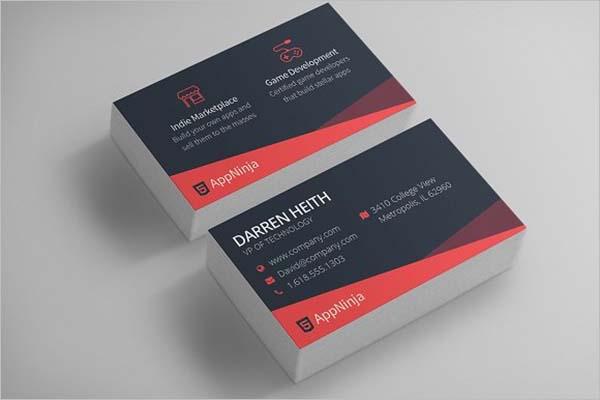 Sleek Business Card Design PSD