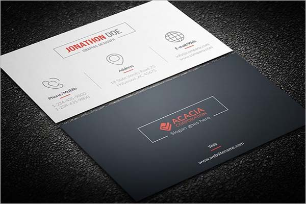 Sleek Company Business Card Design