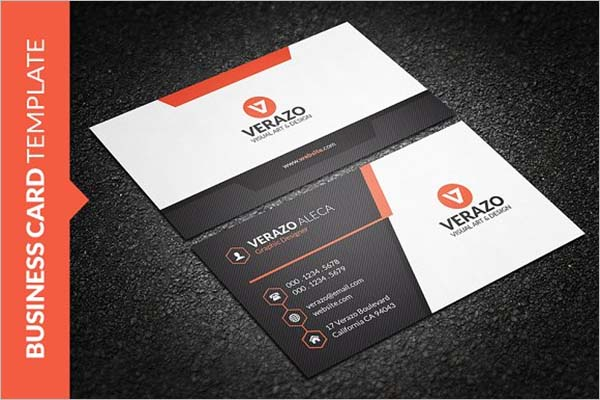 Sleek Material Business Card Design