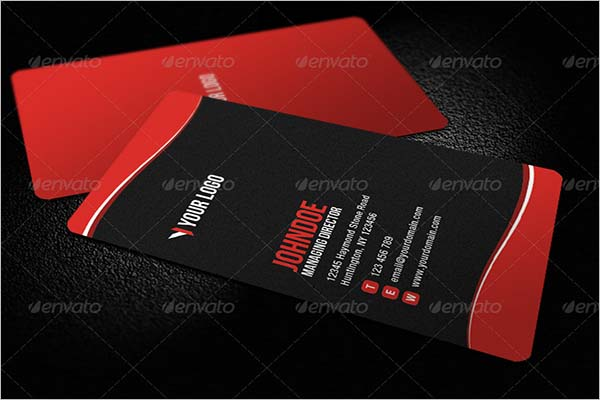 Sleek Rounded Corner Business Card Sample