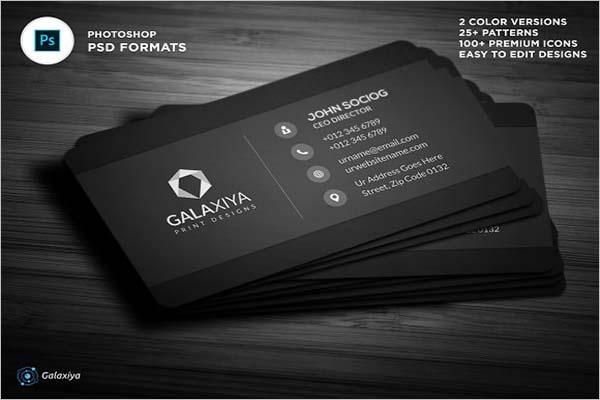 Sleek Sample Business Card Design