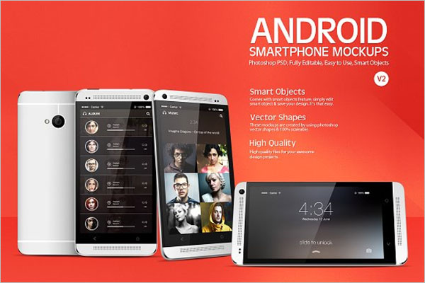 Smartphone Android Mockup