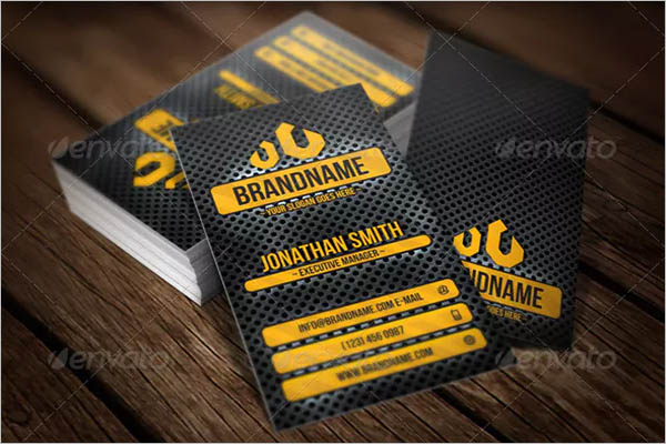 Stylish Metal Business Card Design