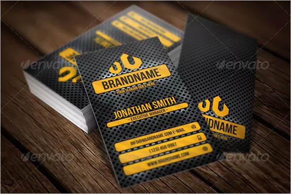 Stylish Metal Business Card Design