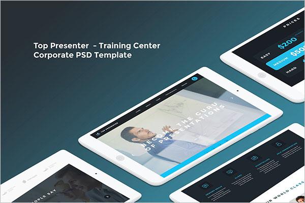 Training Website Template Free