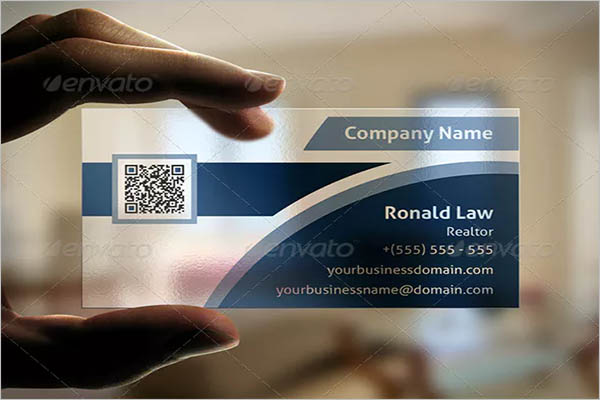 Transparent Business Card Vector