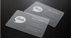 31+ Transparent Business Cards