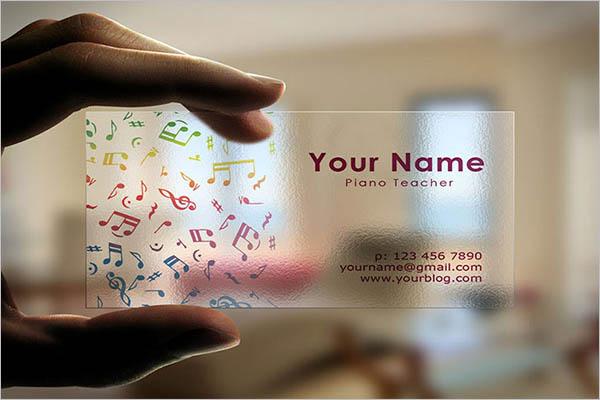 Transparent Business Cards Idea