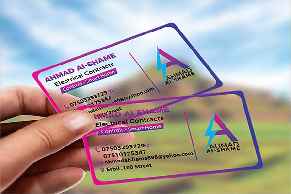 Transparent Business Cards Template