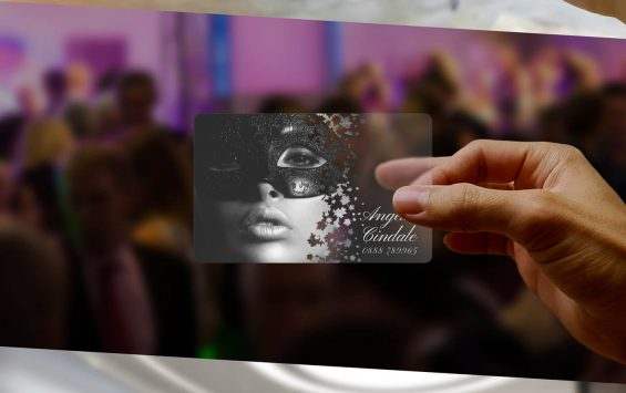 Transparent Business Cards product