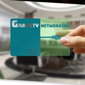 Transparent Business Cards retro