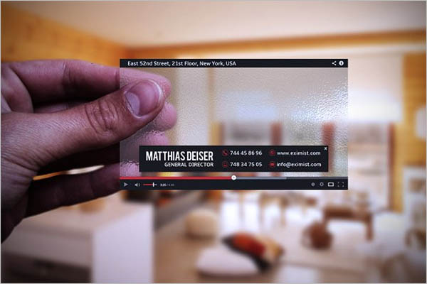 Transparent Youtube Business Card