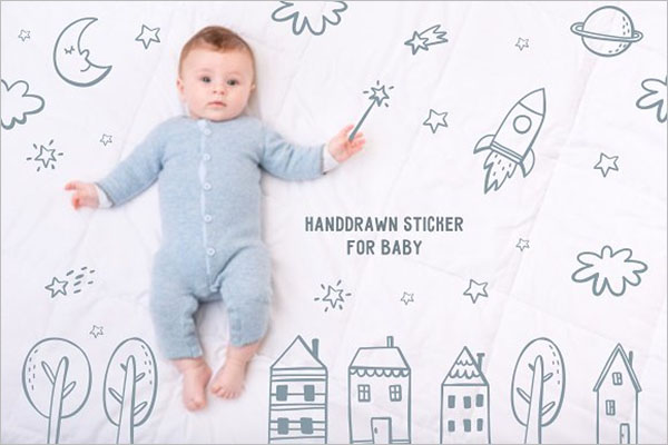 Unique Baby Postcard Design