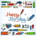 Unique Birthday Postcard Design