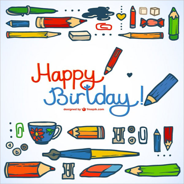 Unique Birthday Postcard Design