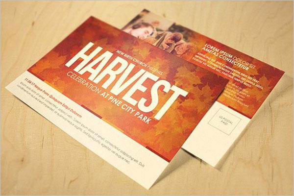 Unique Event Postcard design