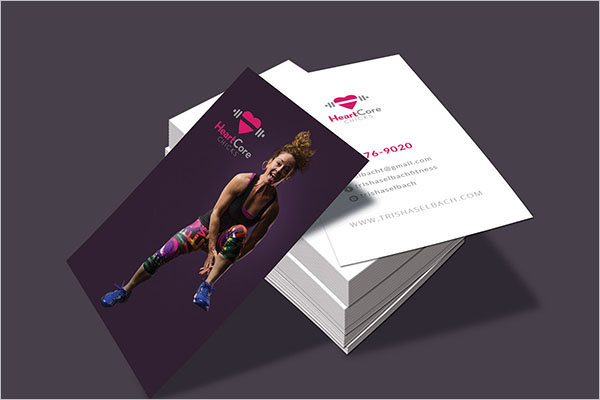 Unique Fitness Business Cards