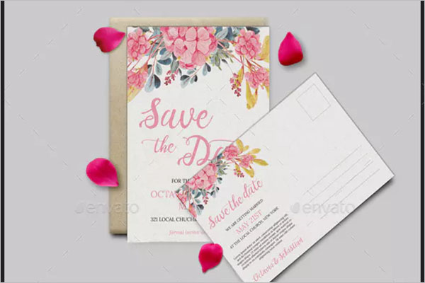 Unique Floral Postcard Design