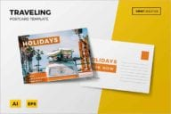 Unique Holiday Postcard Design