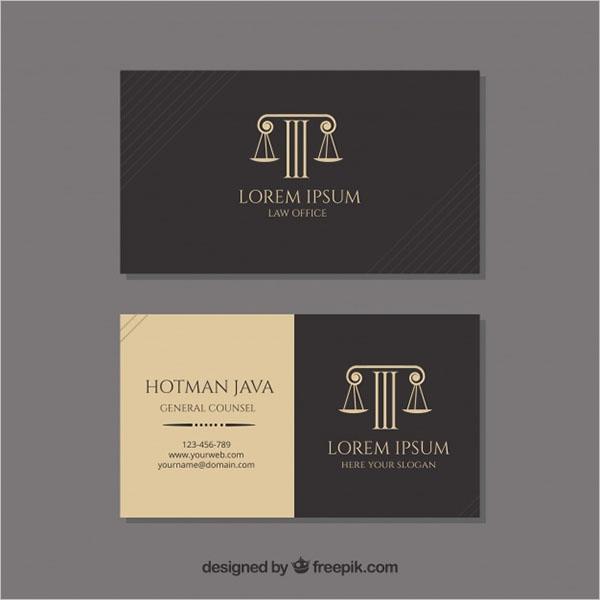 Unique Law Business Card