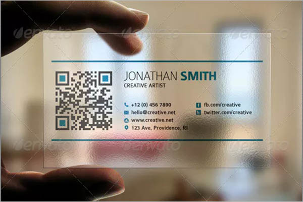 Unique Transparent Business Card