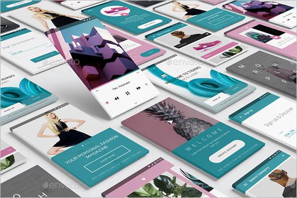 Vector App Screen Mockup Design