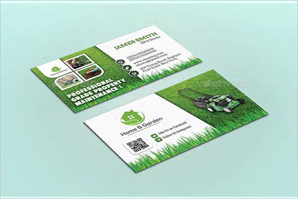 Vector Gardening Business Card