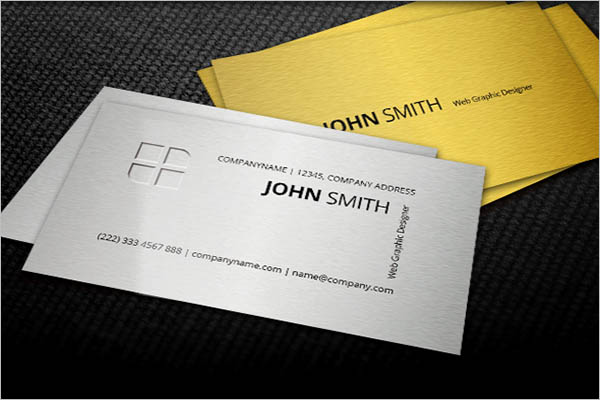 Vinatge Metal Business Card Design