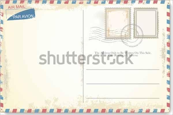 Vinatge Postcard Minimal Design