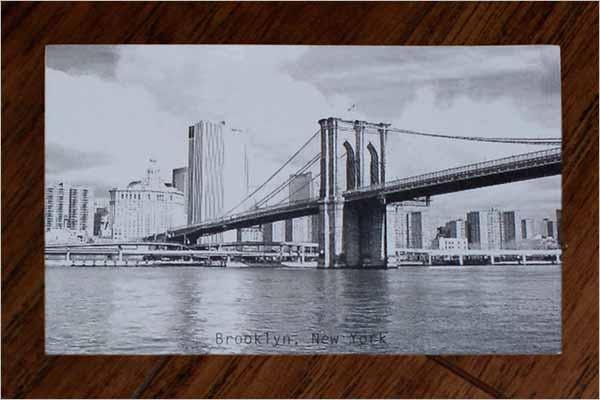 Vintage Double Sided Postcard Design