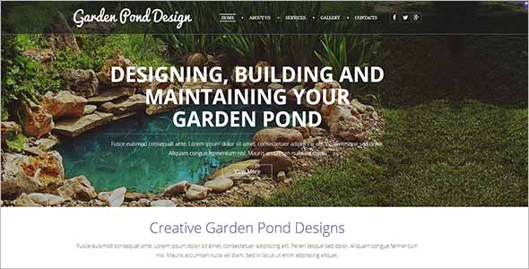 Vintage Gardening Website Template1